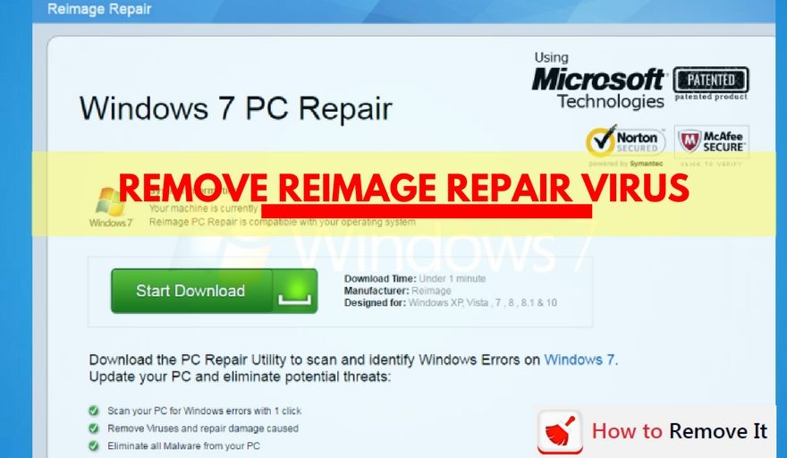 Remove ReImage Repair Virus