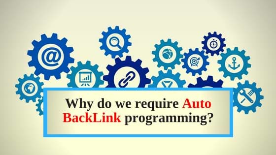 Why do we require auto back link programming
