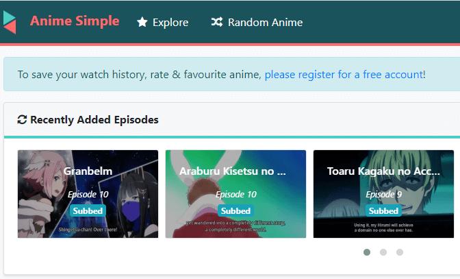 Anime Simple - Anime Movie Streaming Site