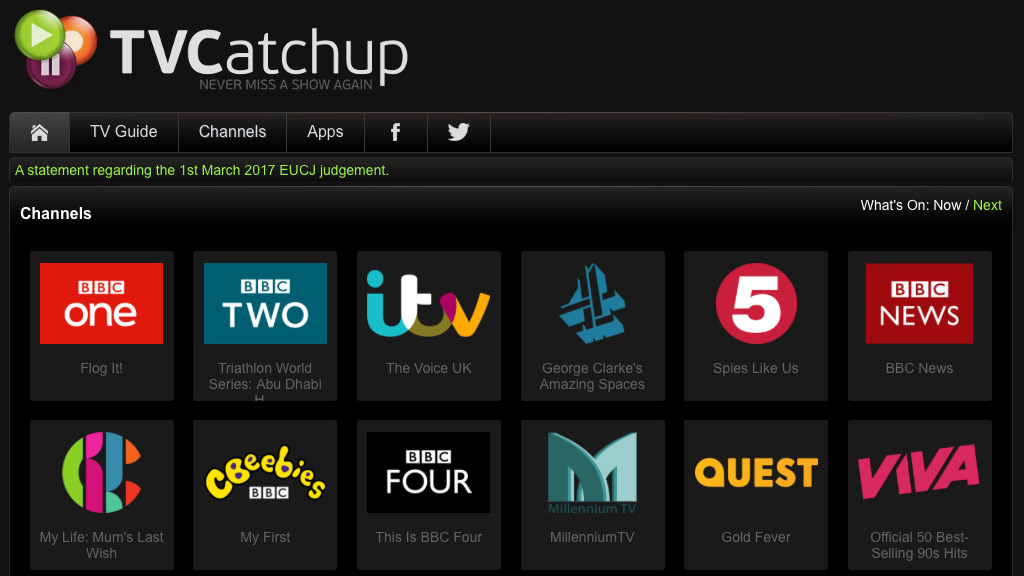 TVCatchup - Live Sports Streaming Site