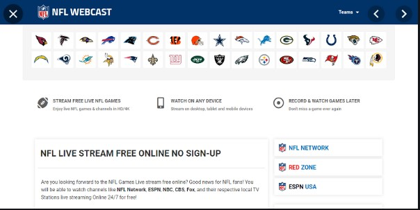 NFLWebCast - Best Live Streaming Site