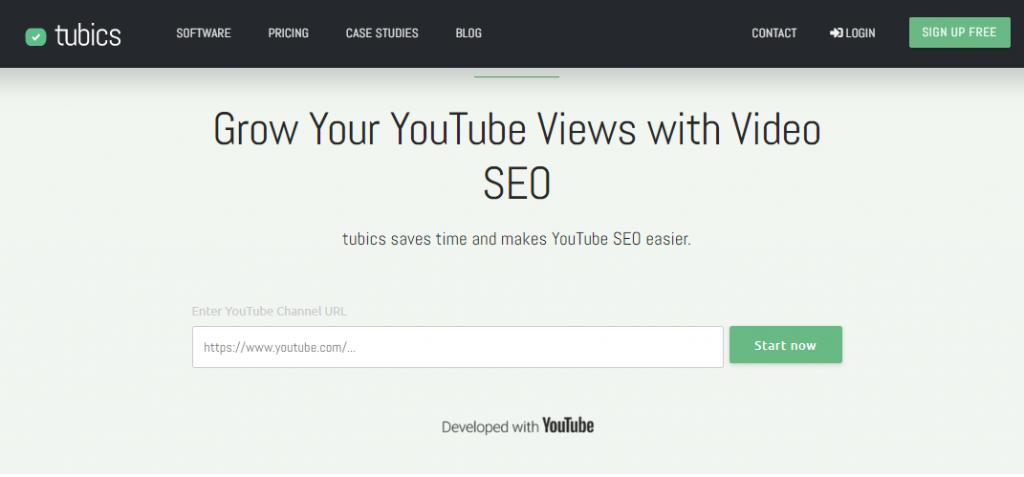 Tubics - YouTube SEO Tool