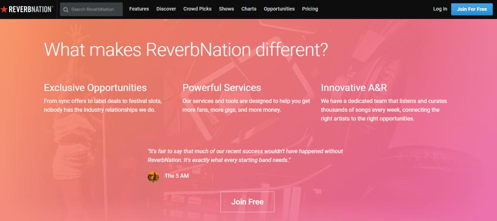 Best Free Music Download Sites -  ReverbNation