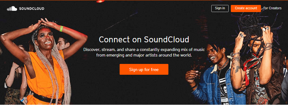 Best Free Music Download Sites - SoundCloud