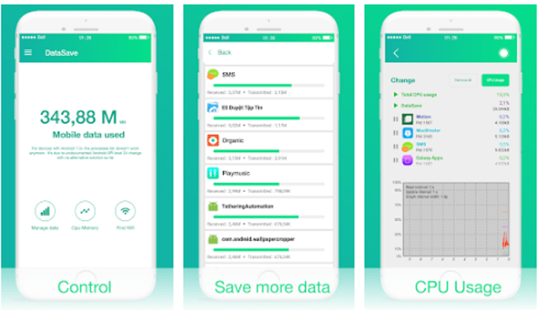 Best Android Data Monitoring Apps - Mobile Data Saving 3G/4G/5G & Wifi Optimize