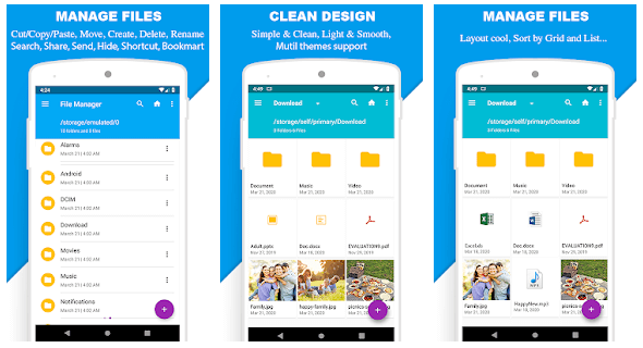 File Manager By Mobile Clean System