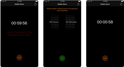 Nobile Alarm - iOS Phone Activity Tracker App