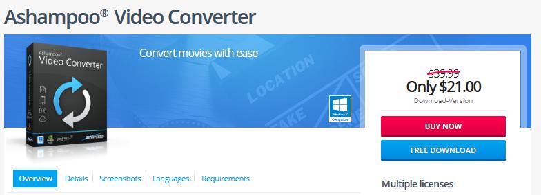 Ashampoo Video Converter Software