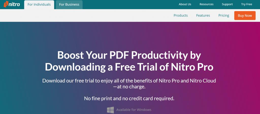 Nitro Pro PDF - Best Free PDF Editing Software For Windows