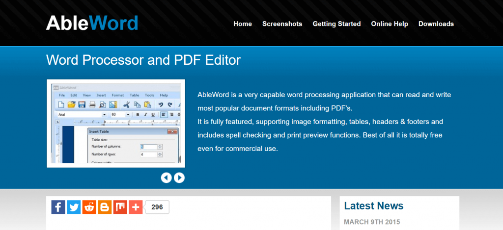 AbleWord - Best PDF Editing Software For Windows 2020