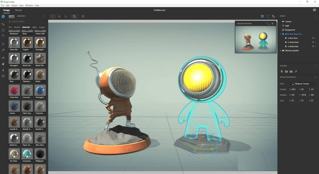 Adobe Dimension CC - Best CAD Software For 3D Printing