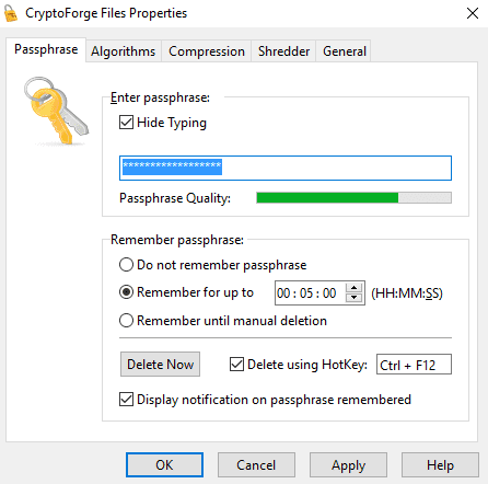 CryptoForge - File Encryption Tool For Windows