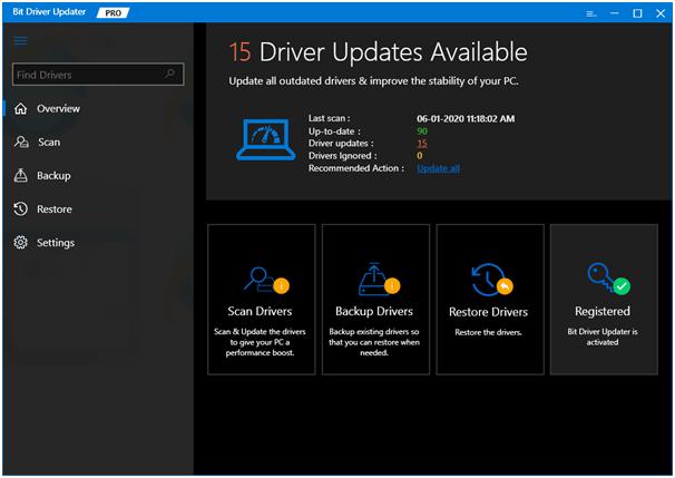 Bit Driver Updater - Phần mềm cập nhật trình điều khiển tốt nhất