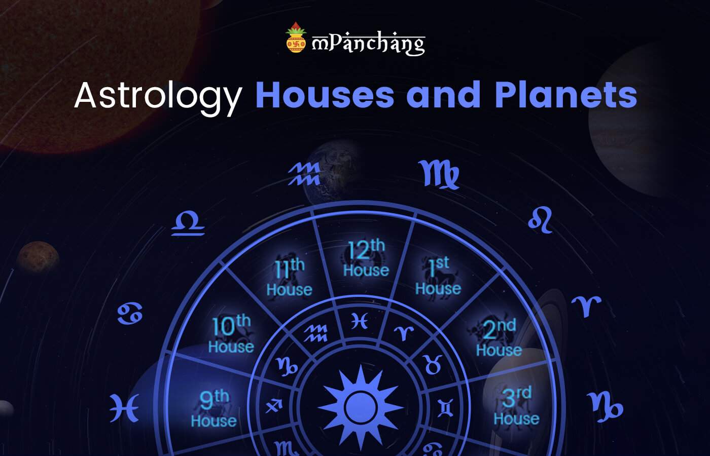 Astrology houses and planets
