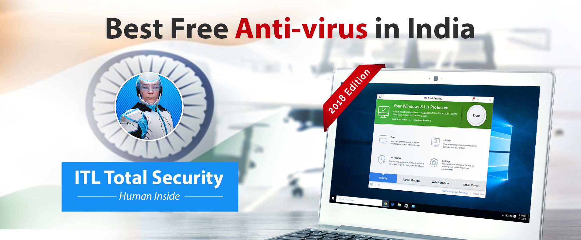 Best free Antivirus of 2018 in India | ITL Total Security Antivirus