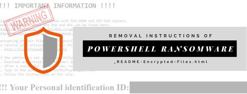 Remove PowerShell ransomware