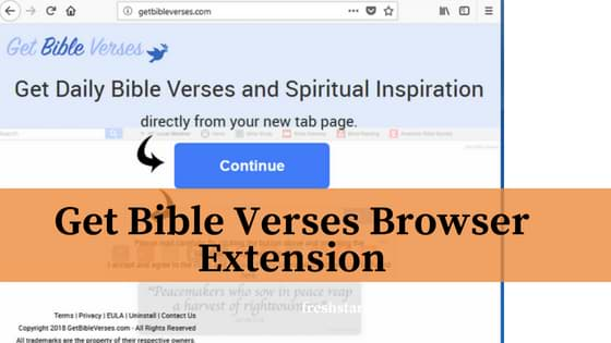 Get Bible Verses Browser Extension