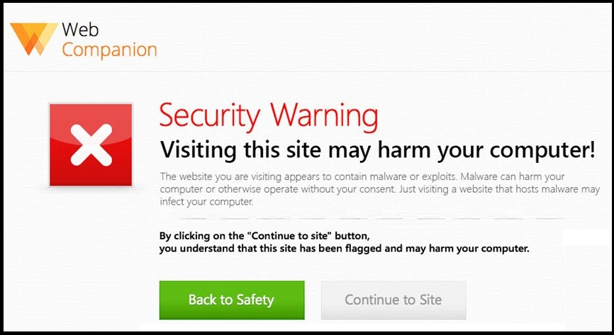 adaware web companion Virus