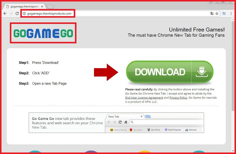 GoGameGo Browser Hijacker