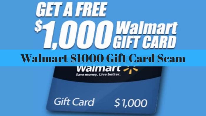 Walmart 1000 gift card Scam