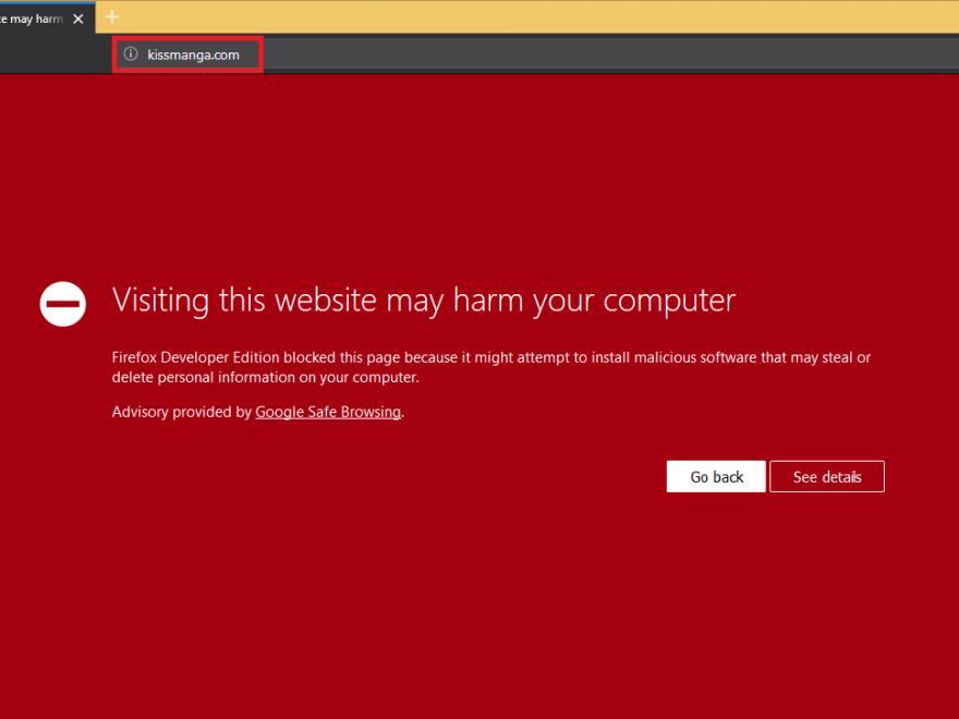 Kissmanga malware