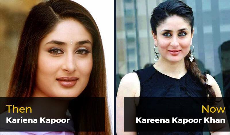 Then Kariena Kapoor- Now Kareena Kapoor Khan